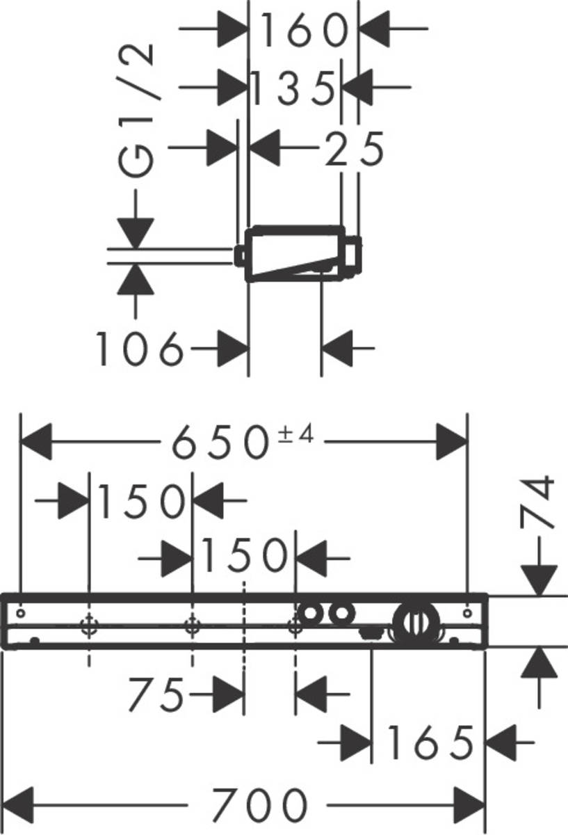 ShowerTablet Select Brausearmaturen: 2 Verbraucher, Chrom