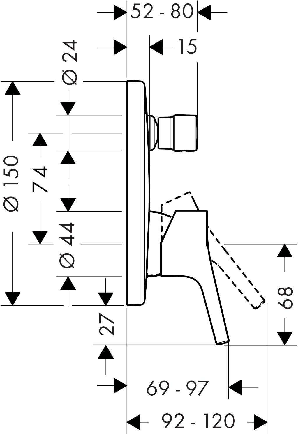 talis s mitigeurs bain  douche  2 sorties   2 fonctions