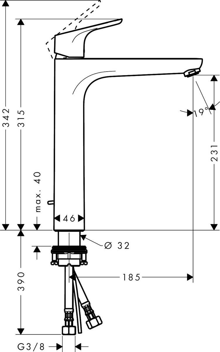 focus waschtischmischer chrom art nr 31531000 hansgrohe de. Black Bedroom Furniture Sets. Home Design Ideas