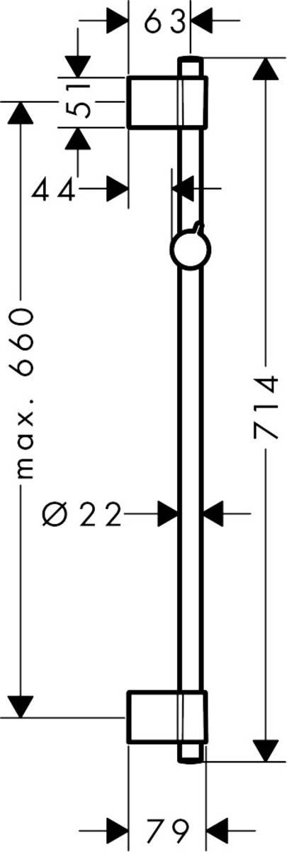 hansgrohe Unica, Barra de ducha Varia 72 cm, ref. 27355000