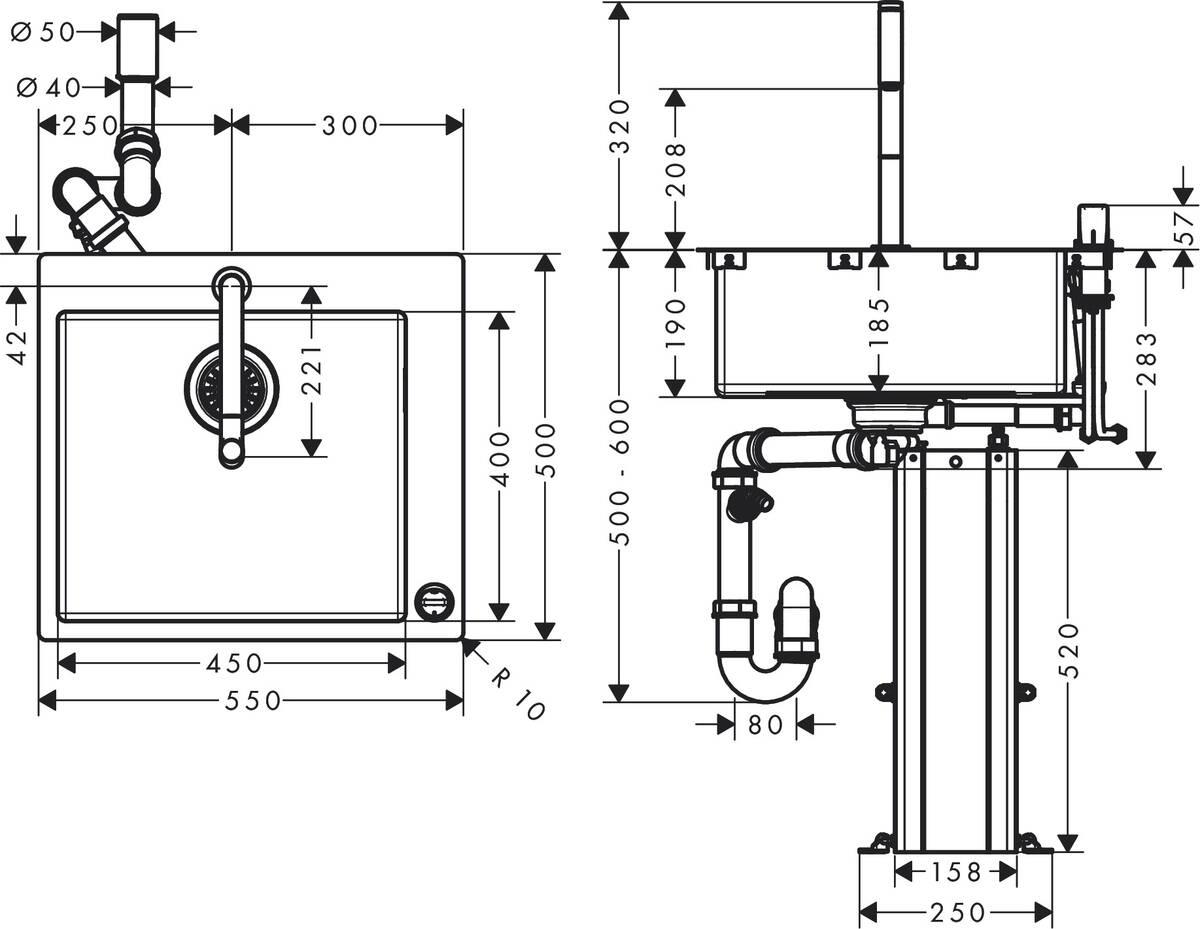 hansgrohe k chencombis bundle c71 c71 f450 06 sp lencombi 450 art nr 43201800 hansgrohe de. Black Bedroom Furniture Sets. Home Design Ideas