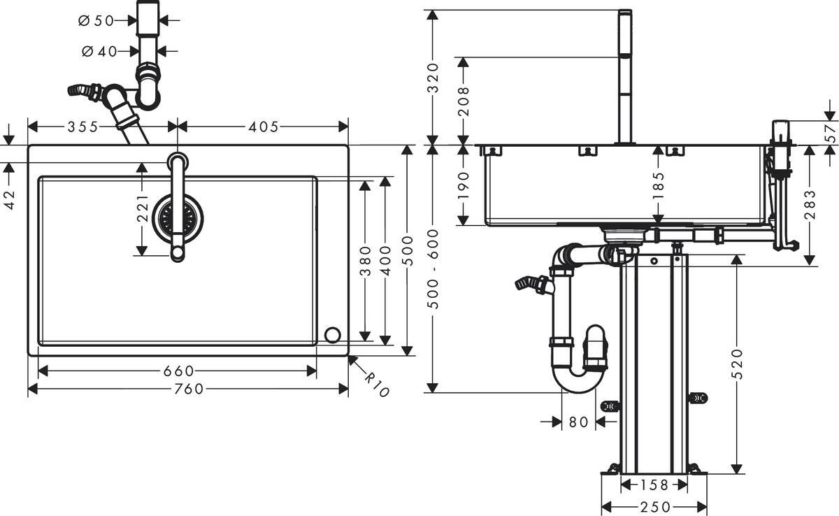 hansgrohe k chencombis bundle c71 c71 f660 08 sp lencombi 660 art nr 43202000 hansgrohe de. Black Bedroom Furniture Sets. Home Design Ideas