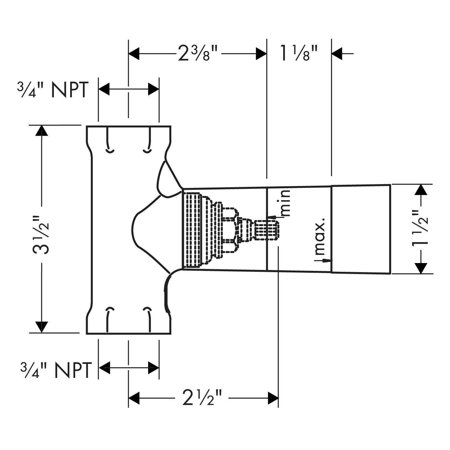 hansgrohe Shut-off valves: Rough, Volume Control, ¾