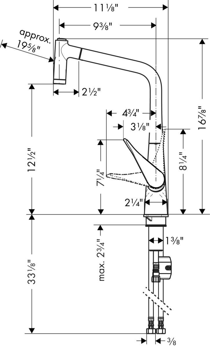 Hansgrohe Kitchen Faucets Metris Higharc Kitchen Faucet