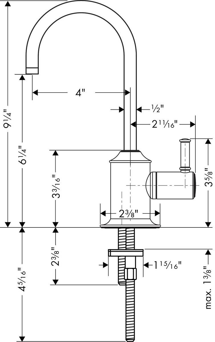 hansgrohe Manual kitchen faucets: Talis C, Beverage Faucet