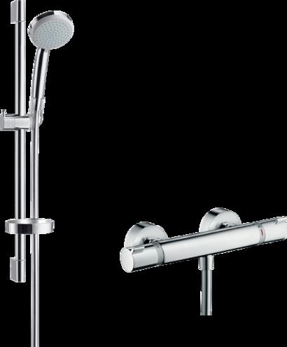 Croma 100 Système de douche apparent Vario avec thermostatique Ecostat  Comfort et barre de douche 65 cm 2a7686ae98a8