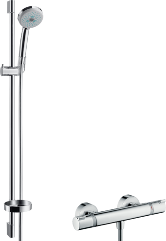 Hansgrohe Brausesets Croma 100 Brausesystem Aufputz Multi Mit