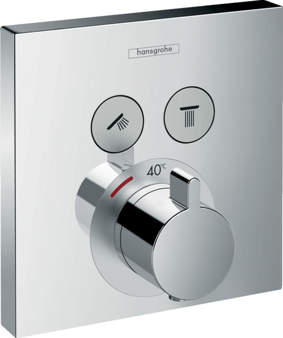 Thermostatic mixers for showers and bath tubs | hansgrohe INT