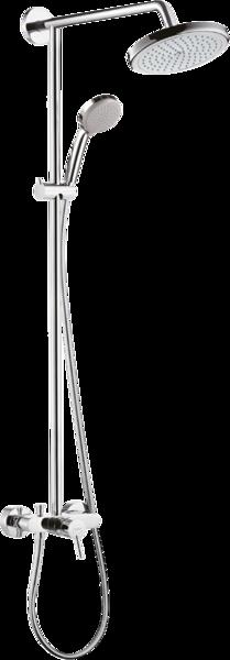 淋浴管 220单速节水型9L带单把手淋浴龙头