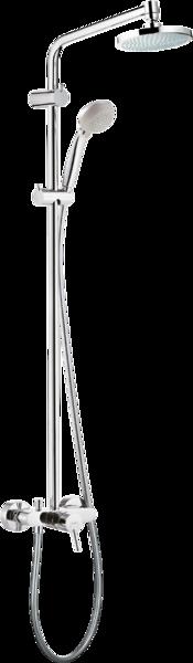 淋浴管 160单速节水型9L带单把手淋浴龙头