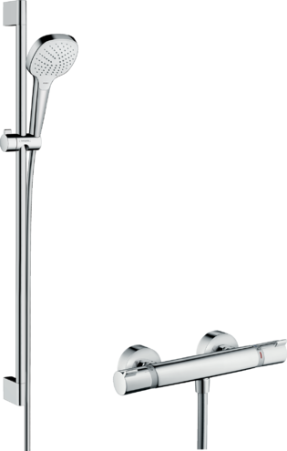 Sehr hansgrohe Croma Select: Croma Select E, Shower system for exposed EB68