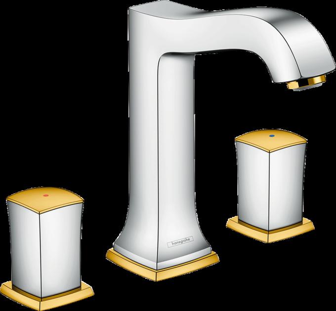 metropol classic waschtischmischer chrom gold optic art nr 31305090 hansgrohe de. Black Bedroom Furniture Sets. Home Design Ideas