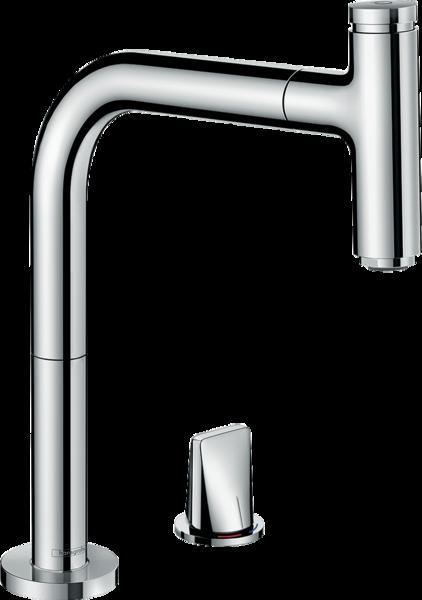 2孔单把手厨房龙头 200抽拉式出水嘴单出水