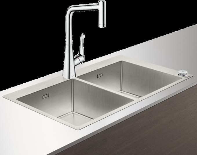 C71-F765-05 水槽套餐 不锈钢水槽组合 370/370 Select