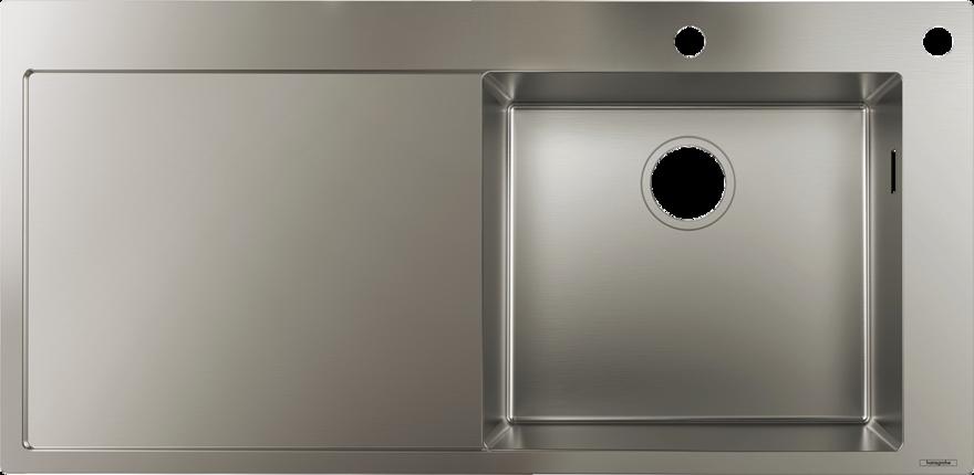 hansgrohe Vaske: S71, S717-F450 Nedfældet/planlimet vask 450 med drypbakke, Art.nr. 43307800 ...