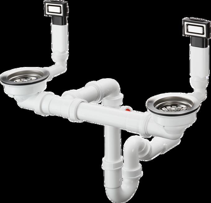 D15-10 手动下水溢水装置 适用于370/370不锈钢水槽