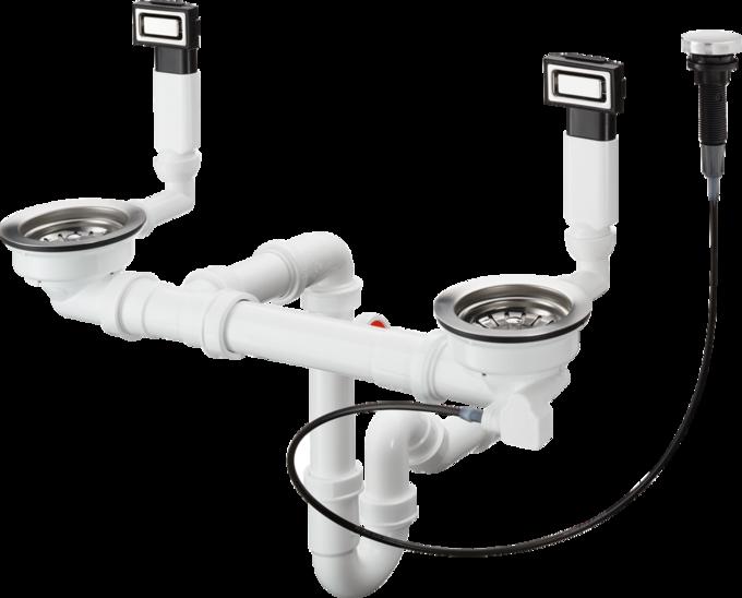 D15-11 自动下水溢水装置 适用于370/370不锈钢水槽