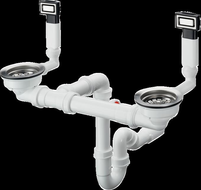 D18-10 手动下水溢水装置 适用于305/435不锈钢水槽