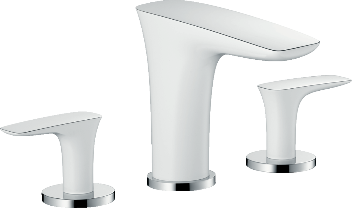 PuraVida Washbasin faucets: white/chrome, Art. no. 15073401 ...