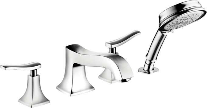 Hansgrohe 14313001 Talis C 3-Hole Roman Tub Set Trim Chrome