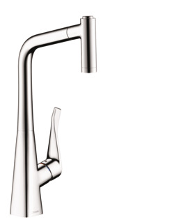Hansgrohe Allegro E Single Handle Pull Out Sprayer Kitchen Faucet In Chrome