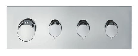 Thermostatic module 360/120 for concealed installation square for 3 functions