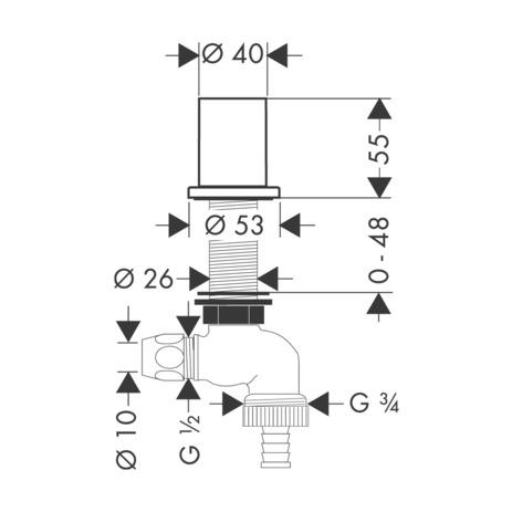 axor accessoires robinet d 39 arr t pour machine laver. Black Bedroom Furniture Sets. Home Design Ideas