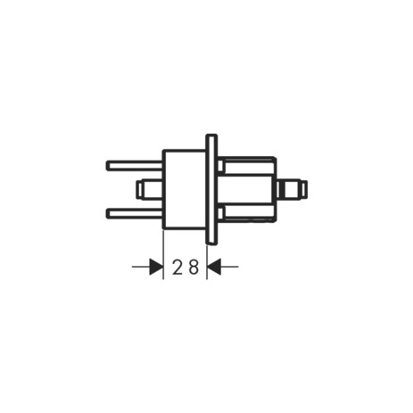 Extension set 28 mm for basin mixer wall-mounted