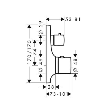 AXOR Massaud Shower mixers: designed to run 1 outlet