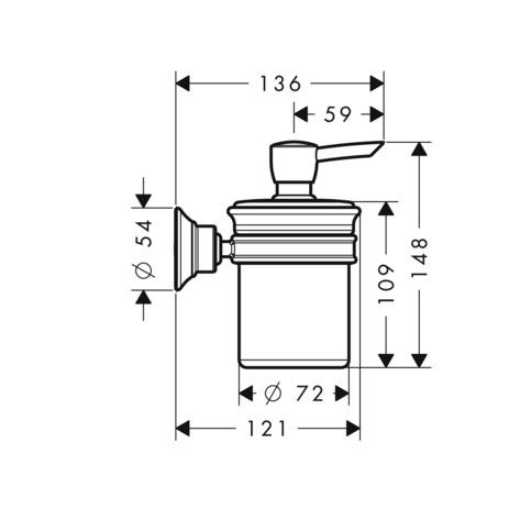 AXOR Accesorios: AXOR Montreux, Dosificador de jabón, 42019000