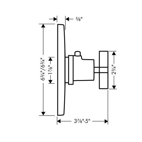 axor citterio shower faucets single lever brushed nickel 39716821. Black Bedroom Furniture Sets. Home Design Ideas