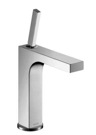 Single lever basin mixer 160 with pin handle without waste
