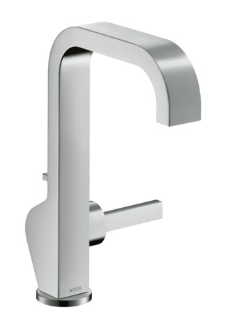 Single lever basin mixer 190 with pin handle and pop-up waste