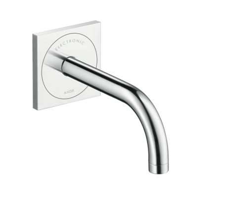 Electronic basin mixer for concealed installation wall-mounted with spout 165 mm