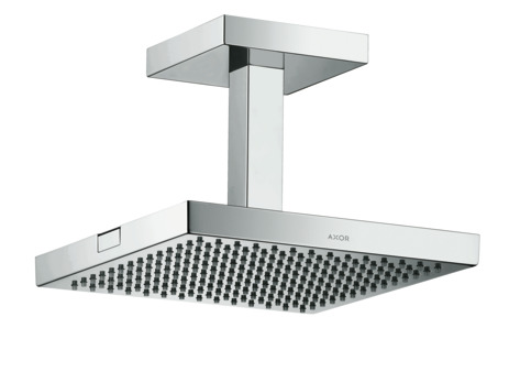 AXOR Starck overhead shower 24 x 24 with ceiling connection