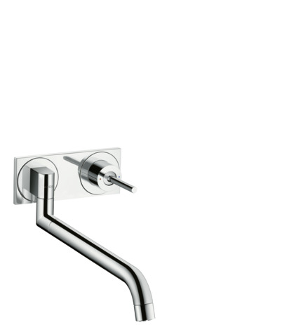 Single lever kitchen mixer for concealed installation wall-mounted