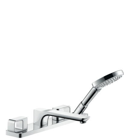 4-hole rim-mounted bath mixer