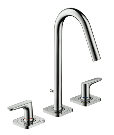 3-hole basin mixer 160 with pop-up waste and escutcheons