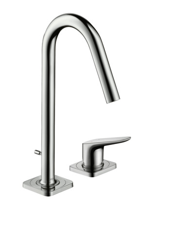 2-hole basin mixer 160 with pop-up waste