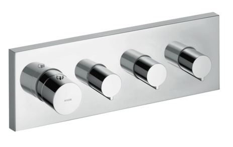Thermostatic module 360/120 square for concealed installation for 3 outlets