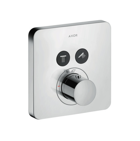 Thermostatic mixer softcube for concealed installation for 2 outlets