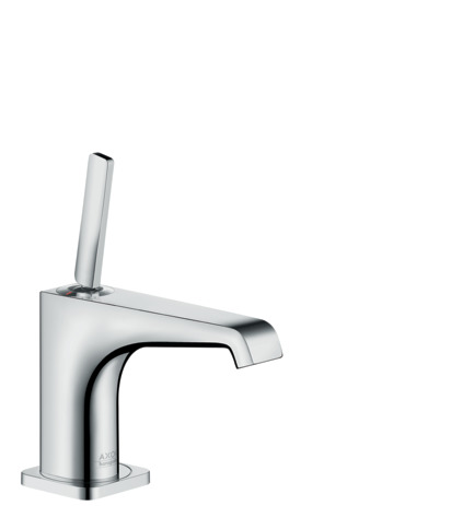 Single lever basin mixer 90 with pin handle for hand washbasins with waste