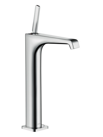 Single lever basin mixer 250 with pin handle for wash bowls with waste set
