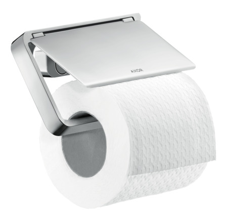 Toilet roll holder with cover