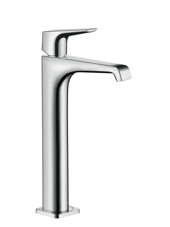 Single lever basin mixer 250 with lever handle for wash bowls without waste
