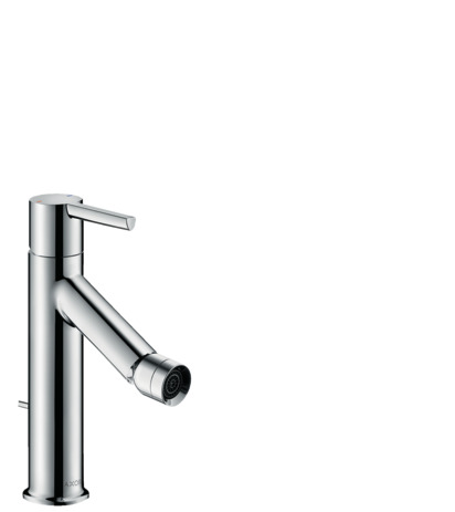 Single lever bidet mixer with lever handle and pop-up waste