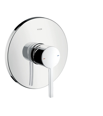 Single lever manual shower mixer for concealed installation with lever handle