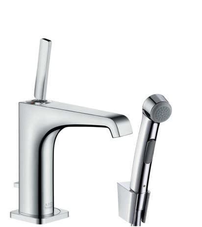 Single lever basin mixer 130 with bidet 1jet shower spray and shower hose 1.60 m