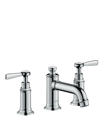 3-hole basin mixer 30 with lever handles and pop-up waste