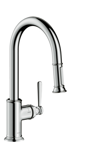 Single lever kitchen mixer 180 with pull-out spray